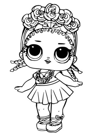 Coconut LOL suprise doll coloring page