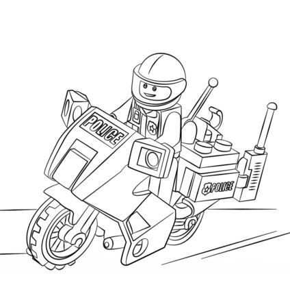 Lego Police Coloring Page
