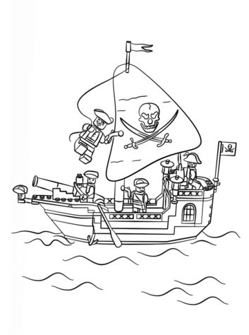 Pirage Lego Coloring Page